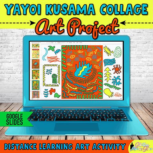 digital yayoi kusama art project on google slides for distance learning