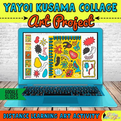 yayoi kusama art lesson for kids hybrid learning