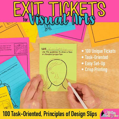 fine arts exit slips for elementary and middle school kids