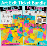 art exit ticket bundle for formative assessment in visual arts