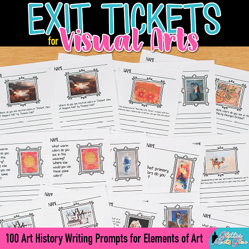 art exit ticket ideas for formative assessment in art