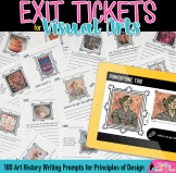 art history exit slips for principles of design