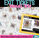 art history exit tickets for elements of art