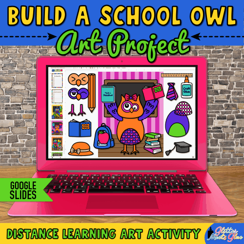 build a school owl activity for kids remote learning
