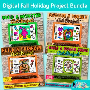 digital fall holiday projects for kids remote learning