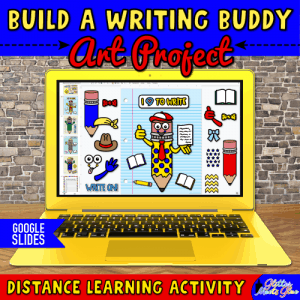 digital writing buddy activity for ELA and literacy lessons