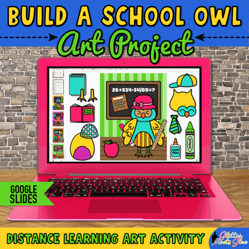 owl art project for kids distance learning