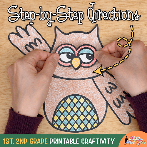 build an owl activity for kids in first grade