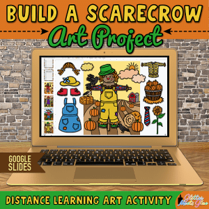 digital scarecrow art project for kids distance learning