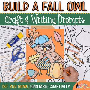 fall owl coloring craft for 1st grade