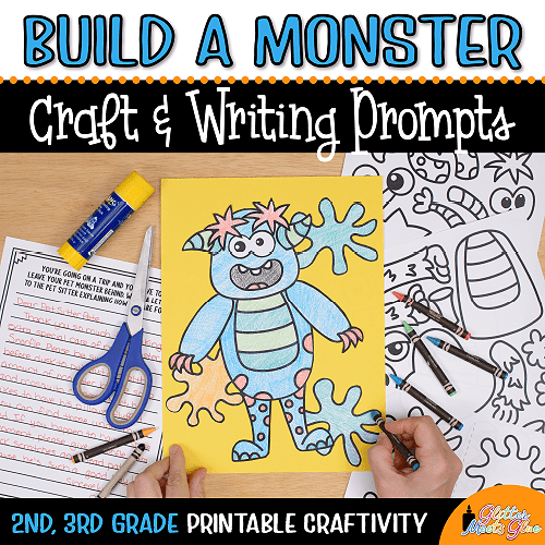 halloween monster coloring craft for 3rd grade