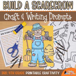 scarecrow coloring craft for 3rd grade