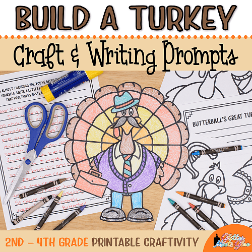 turkey coloring craft for 2nd grade