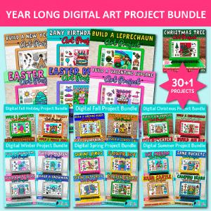 digital art project bundle for 4 seasons and major USA holidays