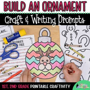 printable christmas ornament coloring craft for first grade