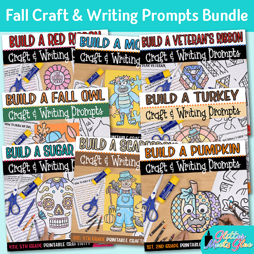 fall craft bundle of 8 projects for elementary kids