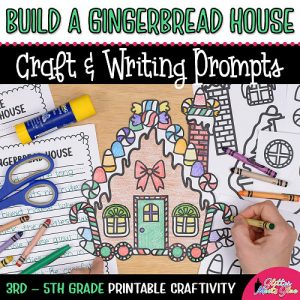 gingerbread house coloring craft project for 3rd grade