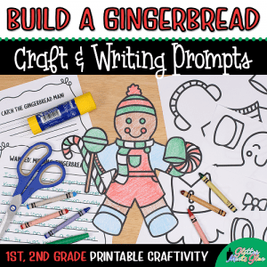 gingerbread man coloring craft for 1st grade