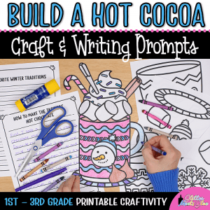 hot chocolate coloring craft writing prompts for first grade