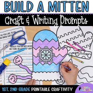 mitten coloring craft writing prompts first grade