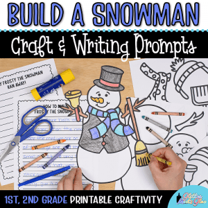snowman coloring craft writing prompts first grade project