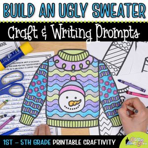 ugly sweater coloring craft for first grade