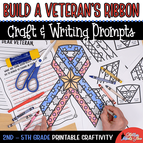 veterans day coloring craft for kids